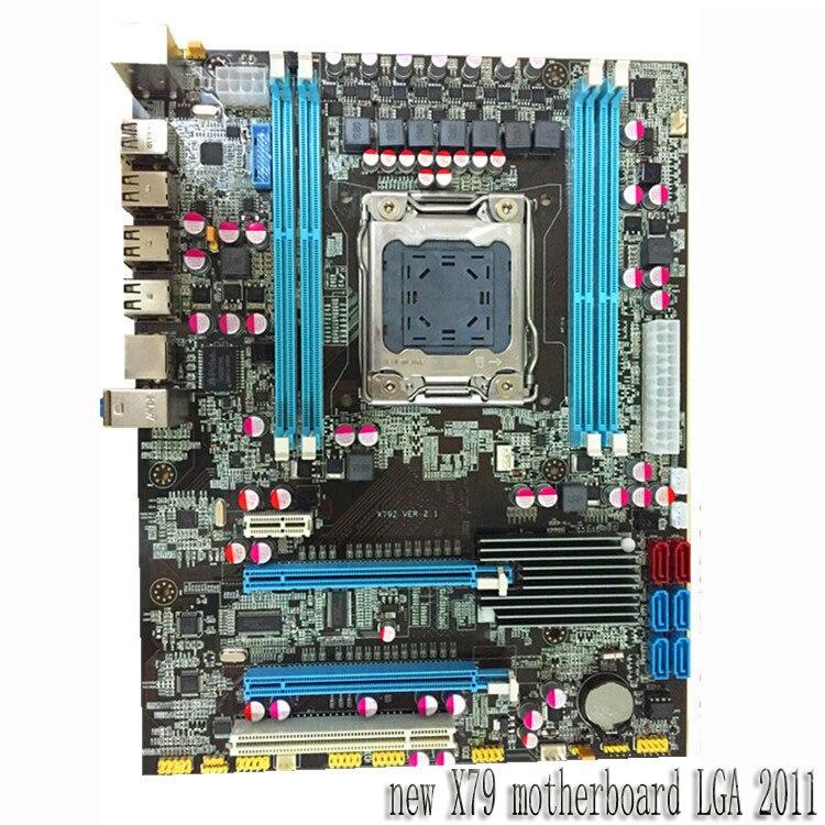 Carte mère de bureau nouveau X79 carte mère 2011 broche compatible 8g mémoire carte mère livraison gratuite