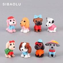 Fashion Puppy figurine Cartoon Dog Animal Model Resin Craft landscape home miniature fairy garden cake decoration accessories