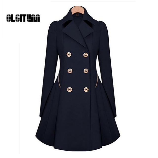 Double Breasted Trench Coat 2018 Women's Coat Classic Waist Was Thin Coat Windbreaker Women Trench  Female Long Sleeve Overcoat