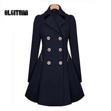 Зимние Тренч 2017 Лидер продаж Для женщин пальто классический талия была тонкое пальто ветровка Для женщин Тренчи для женщин женские с длинным рукавом пальто