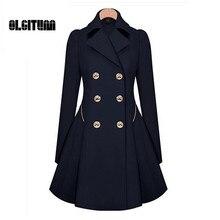 Winter Trench Coat 2017 Hot Sale Womens Coat Classic waist was thin coat Windbreaker Women Trench  Female Long Sleeve Overcoat