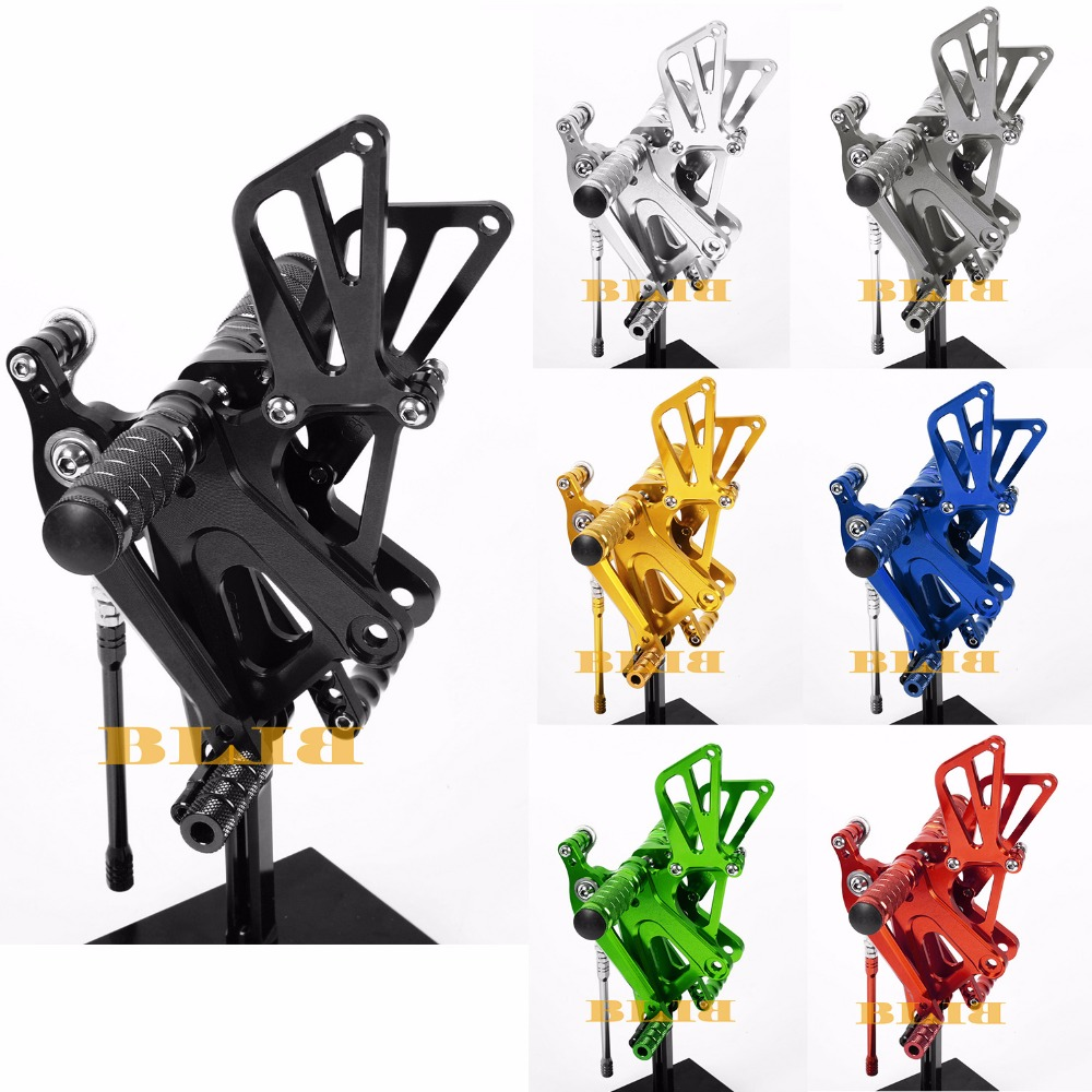 8 Colors CNC Rearsets For Honda CBR600RR CBR 600RR 2003 - 2006 Rear Set Motorcycle Adjustable Foot Stakes Pegs Pedal 2005 2004