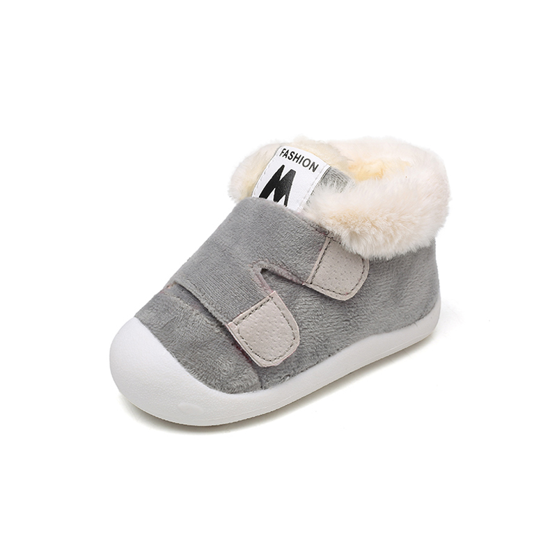 2018 winter baby shoes thick warm toddler shoes boys and girls cotton shoes 0 3 years old soft bottom baby shoes