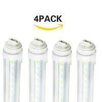 4 Pack 8FT 40W R17D LED Lamp 240cm LED Tube Light Bulb 2400mm Freezer Straight Fluorescent 5500K 120V 277V Input Super Bright