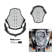 For KTM 1190 Adventure 1190 R 1290 SA Super Adventure Front Lamp Headlight Guard Protector Cover Stainless Steel
