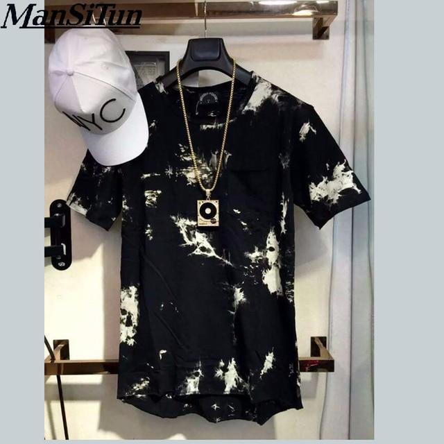 886d33d3d 2018 New balm Hip Hop T shirt tie dye Tops Tee Extended side zipper T shirt  Men Swag urban Clothing kanye west M-XL