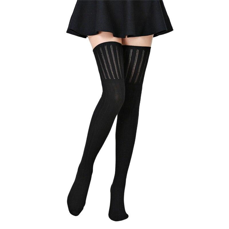 New 2016 Autumn Winter Women Wool Braid Knitted Over Knee High Socks Warm Thigh High Long