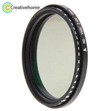 49mm 52mm 58mm 62mm 68mm 72mm 77mm 82mm ND filtre lens ND Fader nötr Yoğunluk Ayarlanabilir Değişken Filtre ND 2 ND 400 Filtre
