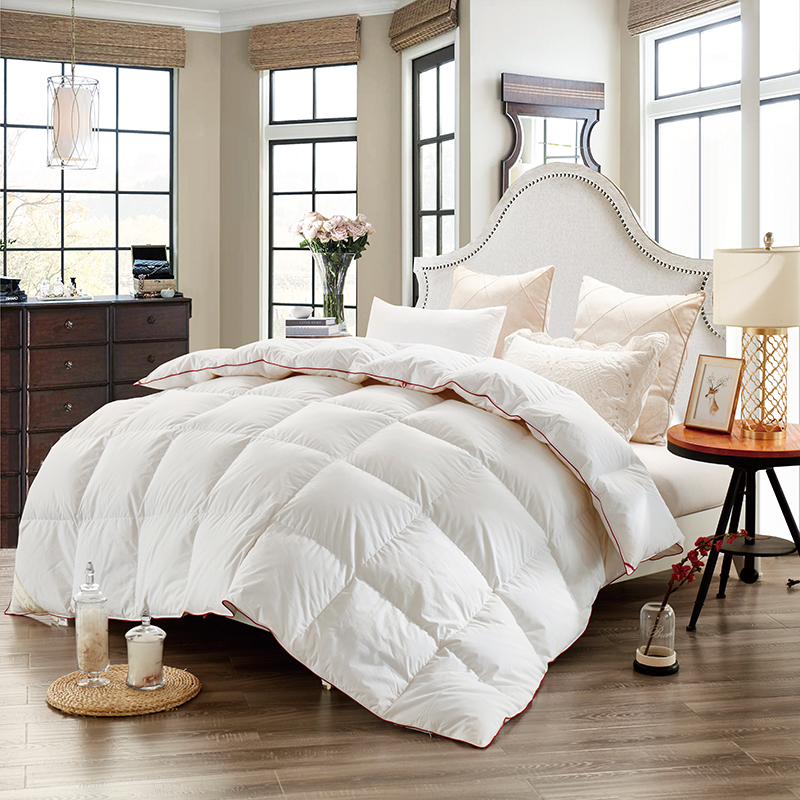 white pink yellow goose down couette winter comforter duvet twin full size blanket quilt. Black Bedroom Furniture Sets. Home Design Ideas