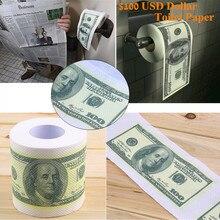 1 Roll One Hundred Dollar Bill Toilet Paper $100 Money Roll Novelty Fun Birthday Gag Gift Joke Halloween Christmas Prop