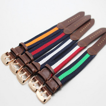 font b Top b font Quality font b luxury b font watchband 20mm colorful nylon