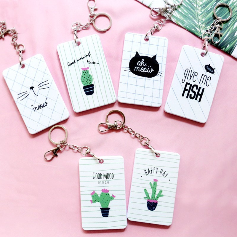 1pc Cute Credit Card Holder Cute Cactus Card Cover Women Men Fashion Card Bags Good Quality Card Case Kids Gift