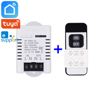 Tuya Smart Life eWeLink 2.4GHz RF Wifi Switch Relay 10A 16A Wireless Remote Control Works With Alexa Google Home Mini