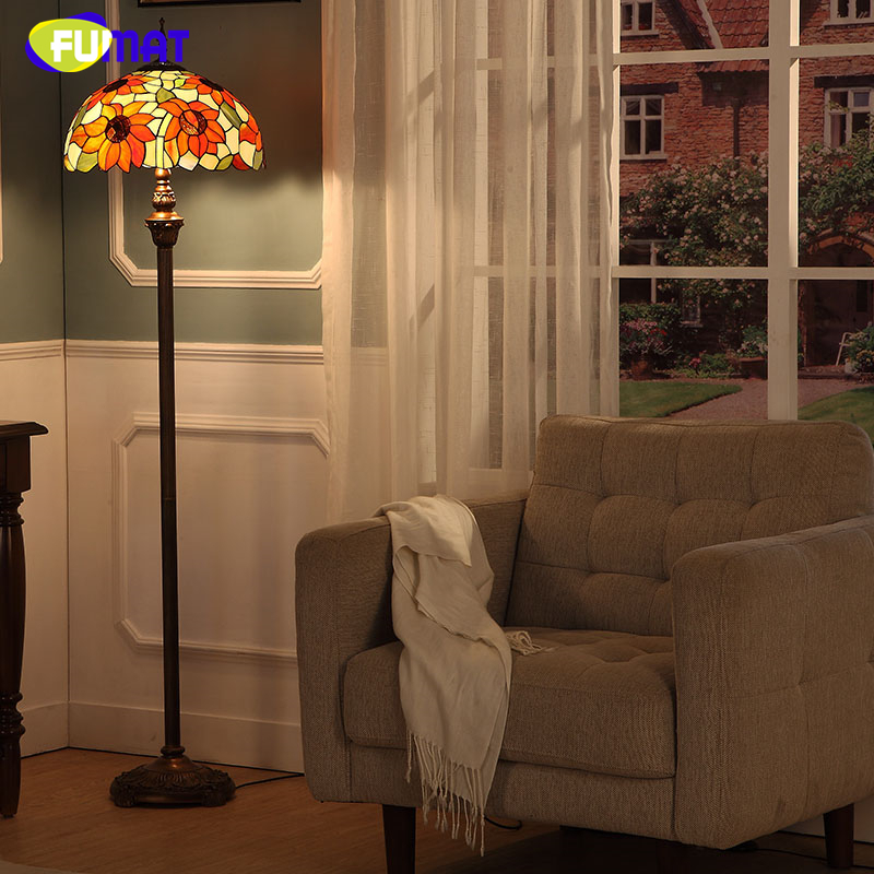 Fumat pastoral sunflower shade floor lamps brief modern - Modern lamp shades for living room ...