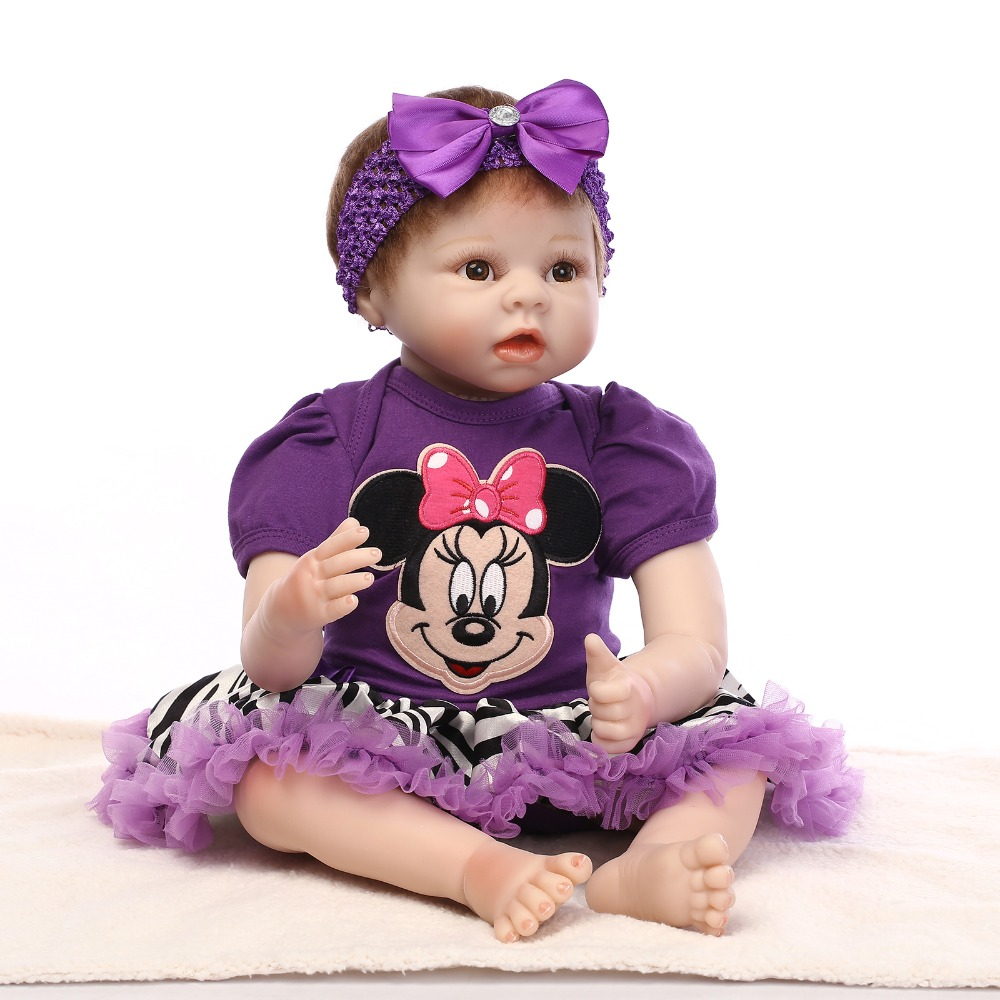 74ab8a606ce4 Export Quality 55cm 22   NPK Reborn Baby Girl Doll With Purple ...