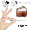 Ultra thin powerbank 2600 mah cargador de reserva portable de batería externa del banco móvil para xiaomi iphone 4/4s 5 5s 6/6 s 6 +