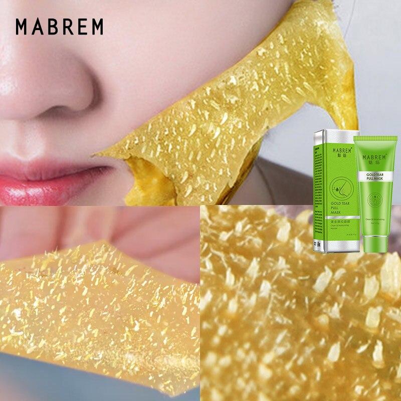 Золотая коллагеновая Очищающая маска для глубокой очистки от черных точек лечение акне усадочная укрепляющая поры Антивозрастная маска для ухода за кожей лица - Цвет: Gold Blackhead Mask