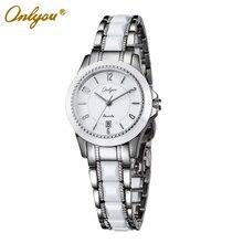 Onlyou Brand White Ceramic Watch Women Men Luxury Quartz Watch Fashion Business Ladies Dress Watch Male Female Colck 6905