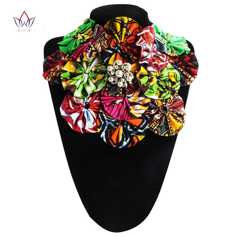 Brw Africana moda Collares lazo falso para las mujeres flor de la vendimia collares joyería Accesorios señoras regalo wyb09