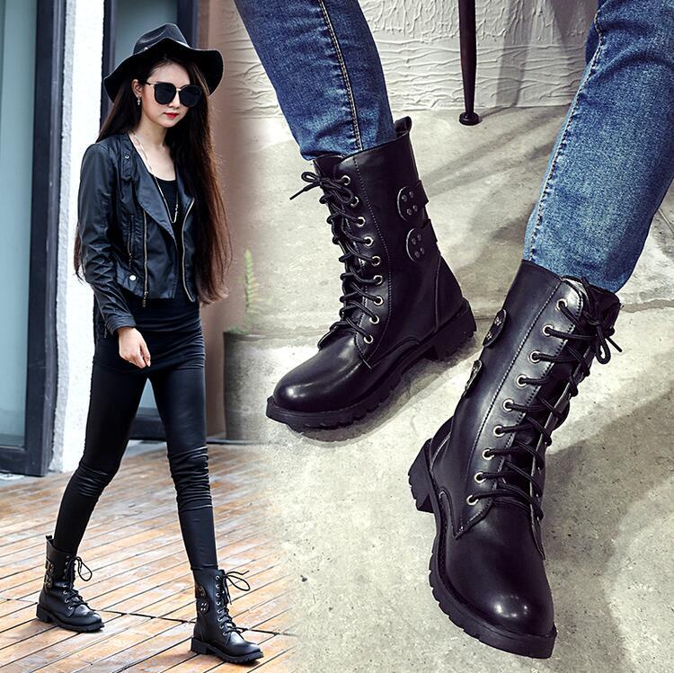Elegant Combat And Motorcycle Boots Street Style Inspiration  GlamInspirecom