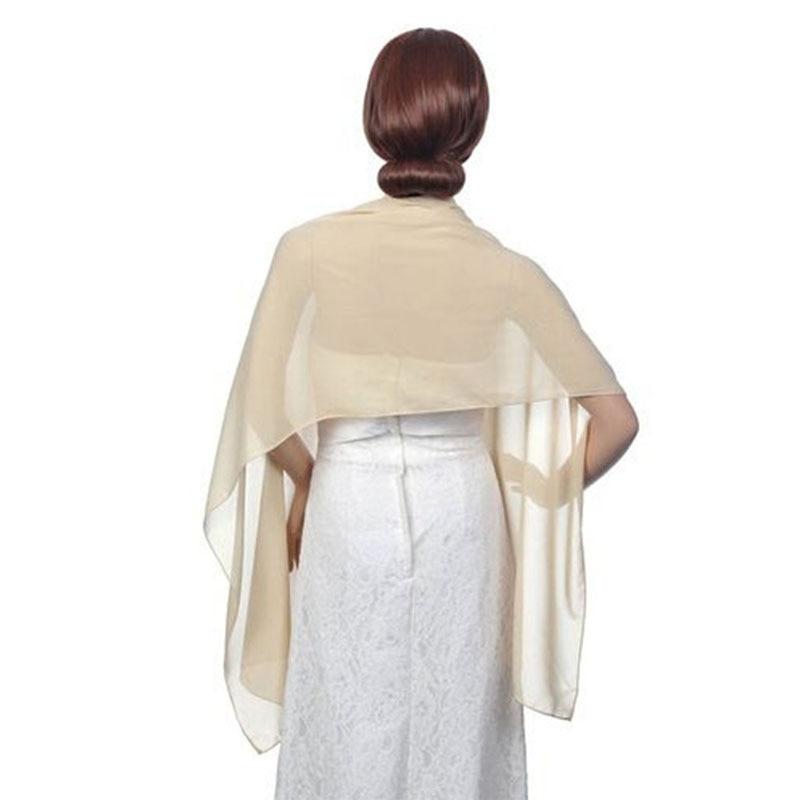 Abrigo de gasa mujer hinchada bufanda nupcial Schal Hijabs musulmanes - Accesorios de boda