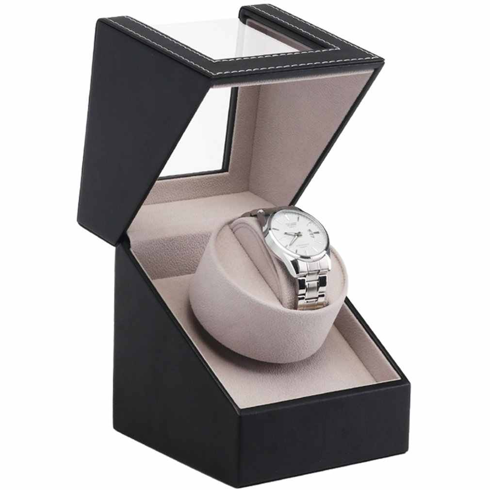 EU/US/AU/UK Plug High Class Motor Watch Shaker Watch Winder Case Holder Display Automatic Mechanical Black Brown Winding Jewelry