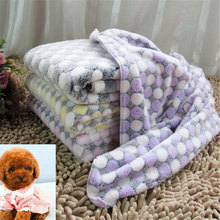Pet Soft Blanket Dog Cat Bed Mat Warm Sleeping Mattress Small Coral Fleece Supplies