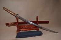 Japoński samurai sword katana glina hartowane 1095 stali full tang blade sharp może ciąć bambusy-plum blossom tsuba hurtownie