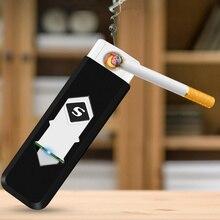 Ветрозащитный подарок бездымный беспламенный USB ветрозащитная зарядка электрическая зажигалка электронные зажигалки аксессуары для курения