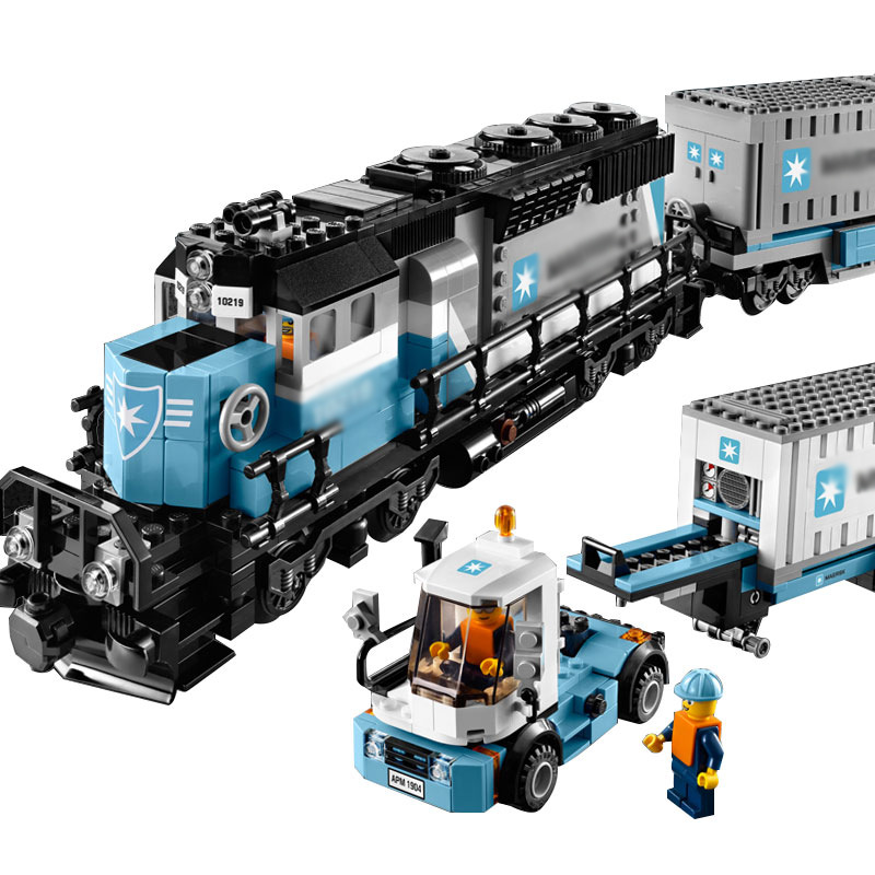 2016 NEW LEPIN 21006 1234Pcs Technic Series Maersk Train Model Building Kits Blocks Brick Compatible Toys Gift 10219 lepin 21006 compatible builder the maersk train 10219 building blocks policeman toys for children