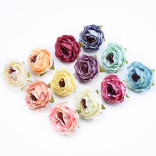Cheap Silk roses bride flower wall fake plants christmas wreath wedding home decor diy a cap gifts candy box artificial flowers(China)