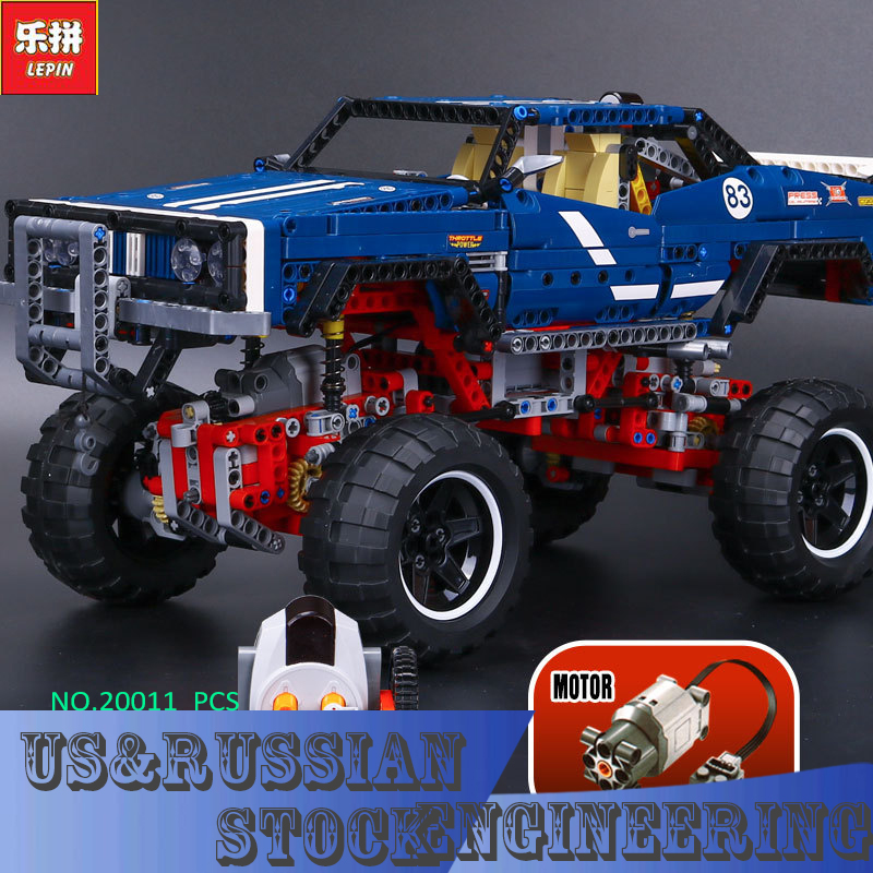 Lepin 20011 Technic 4x4 Crawler Exclusive Edition building bricks blocks Pickup Toys for children boys Game Model RC Car Gift military hummer rc tank building blocks remote control toys for boys weapon army rc car kids toy gift bricks compatible lepin