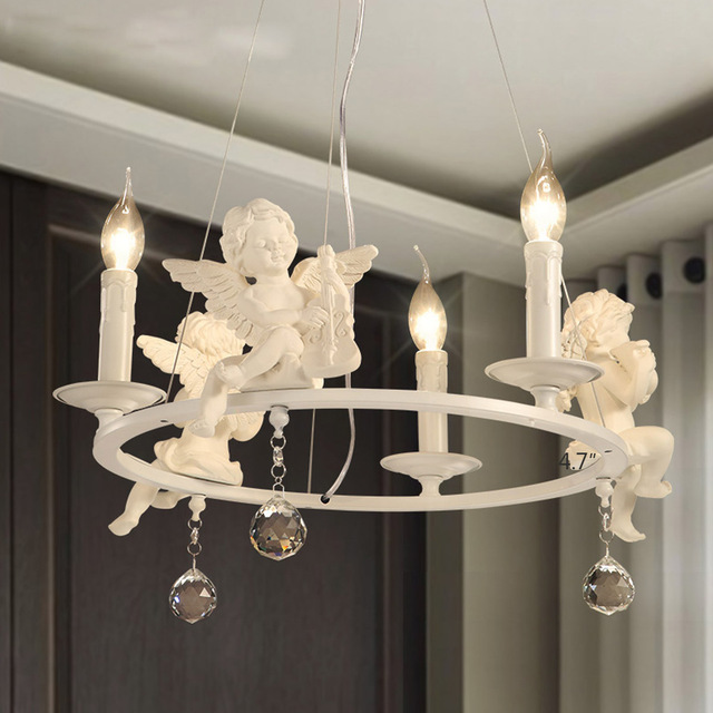 American country chandelier angel shape chandeliers white modern american country chandelier angel shape chandeliers white modern chandelier dining room bedroom lighting decor mozeypictures Gallery