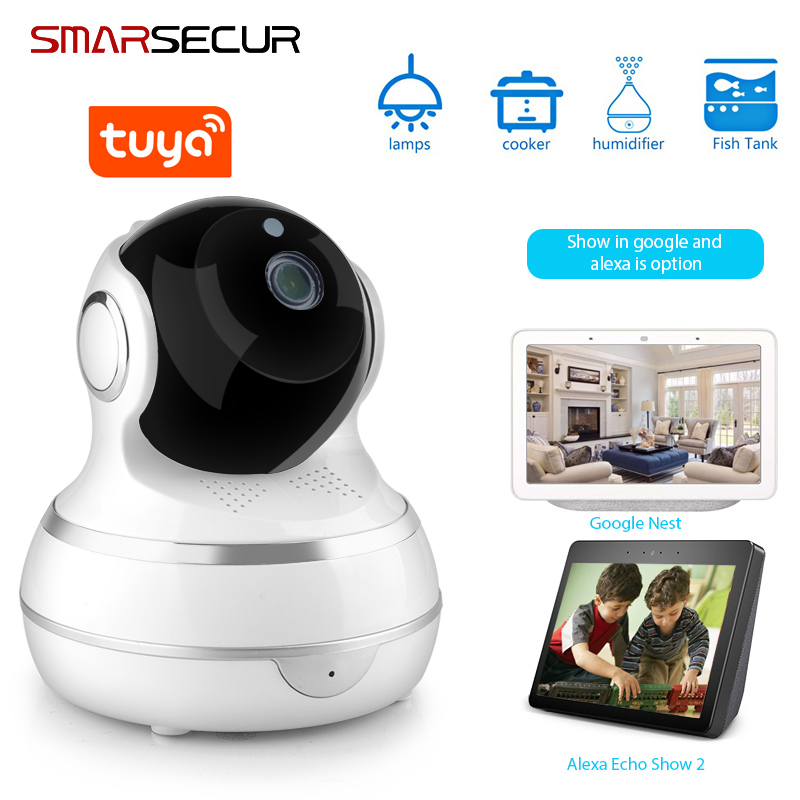 Tuya HD 1080P Home Security IP Camera Two Way Audio Wireless Mini Camera 1MP Night Vision