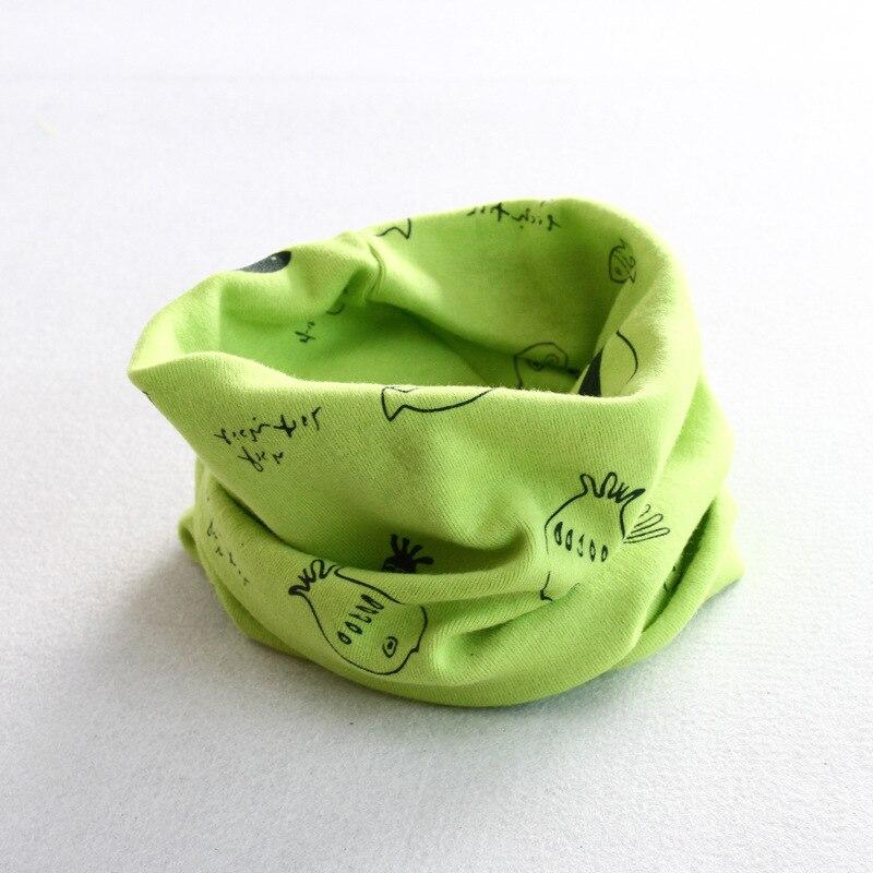 Осенне-зимний детский хлопковый шарф для девочек и мальчиков теплые шарфы Детский круглый кольцевой ошейник Детский шарф детский волшебный шейный платок - Цвет: fish 1
