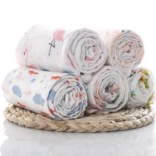 1 шт., муслин, хлопок, детские пеленки, мягкие одеяла для новорожденных, для ванной, марлевые, для младенцев, накидка для сна, чехол для коляски, игровой коврик, детский, Deken