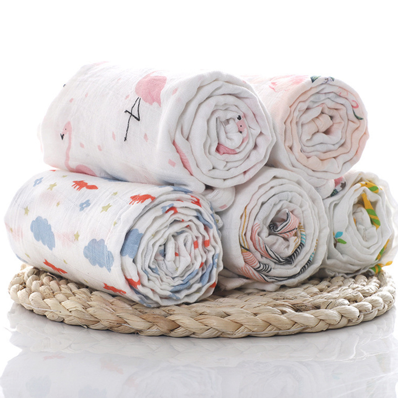 Xnumx musselina xnumx algodão algodão swaddles cobertores macios para recém-nascidos banho gaze infantil acessórios de dormir tampa do pram