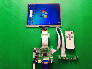 """Image 1 - HDMI/VGA/AV Control Driver Board + 8""""inch HE080IA 01D 1024*768 IPS high definition LCD Display For Raspberry Pi"""