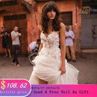 LORIE/свадебное платье принцессы Милая Аппликация с цветами, а силуэт, тюль, открытая спина, свадебное платье в богемном стиле, бесплатная дост