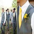 HOT Custom Made cor feitiço Dos Homens Coletes De Decote Em V e Calças Dos Homens de Terno Formal Do Casamento Vestido de Negócios Calças (calças + colete + gravata)