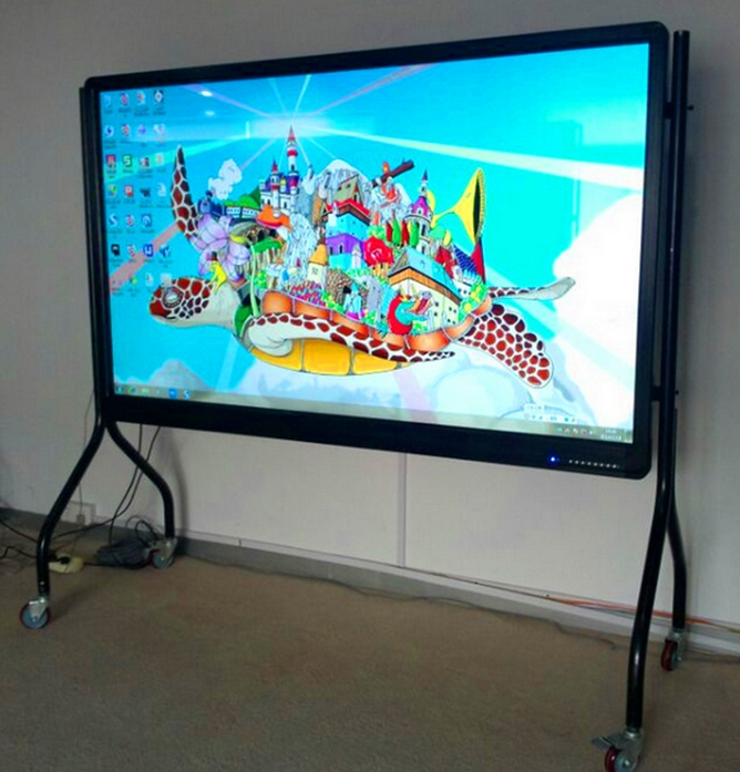 Floor Standing 65 70 84 98 110 120 Inch 4K Led Lcd Tft Hd 1080p Tv Panel Interactive Touch Smart Conference Display Pc