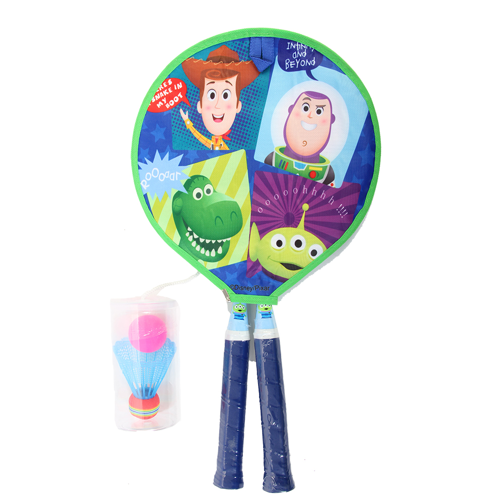Disney Toy Story 4 Kids Bedminton Racket Toy Racket With Two Balls Two Ways Of Fun For 3 Years Old
