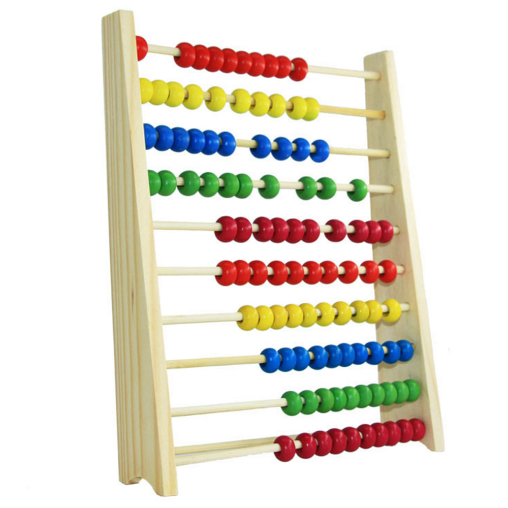 Multicolor Beads Design Educational Wooden Abacus Toy Children Counting Number Early Learning Toy For Kid Math Study For Gift