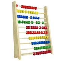 Multicolor Perlen Design Pädagogisches Holz Abacus Spielzeug Kinder Zählen Anzahl Früh Lernen Spielzeug Für Kid Mathematik Studie Für Geschenk