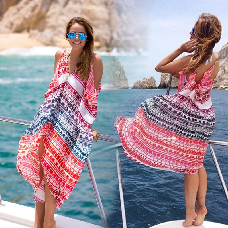Pareo Beach Kaftan Sarongs Bathing Suit Swimsuit Beach Dress Tunic Swimwear Saida De Praia Longa Summer Women Beachwear Dress