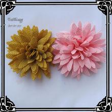 Бесплатная доставка! 12 шт/лот мягкая ткань цветы хризантема