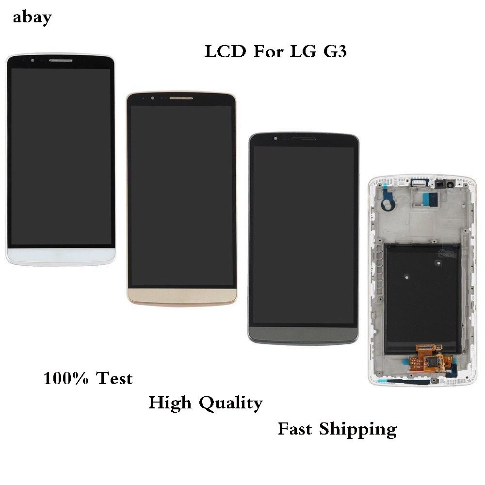 100% Test 5.5 Inch LCD Display for <font><b>LG</b></font> <font><b>G3</b></font> LCD Touch <font><b>Screen</b></font> Digitizer Assembly for <font><b>LG</b></font> <font><b>G3</b></font> Display D850 D851 D855 F460 Replacement image