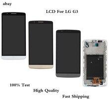 Pantalla LCD de 5,5 pulgadas para LG G3, montaje de digitalizador con pantalla táctil, D850, D851, D855, F460