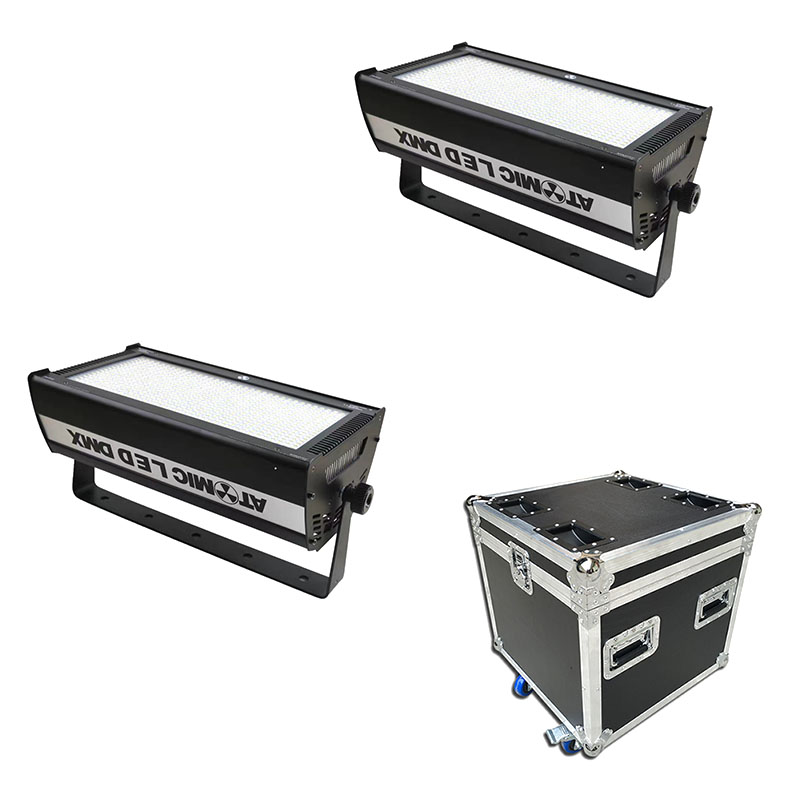 Commercial Lighting Stage Lighting Effect Orderly 2pcs/lot With A Flightcase 1000w White Led Strobe Lights For Performance Theater Stage School Meet Room Office Dj Strobe Light As Effectively As A Fairy Does