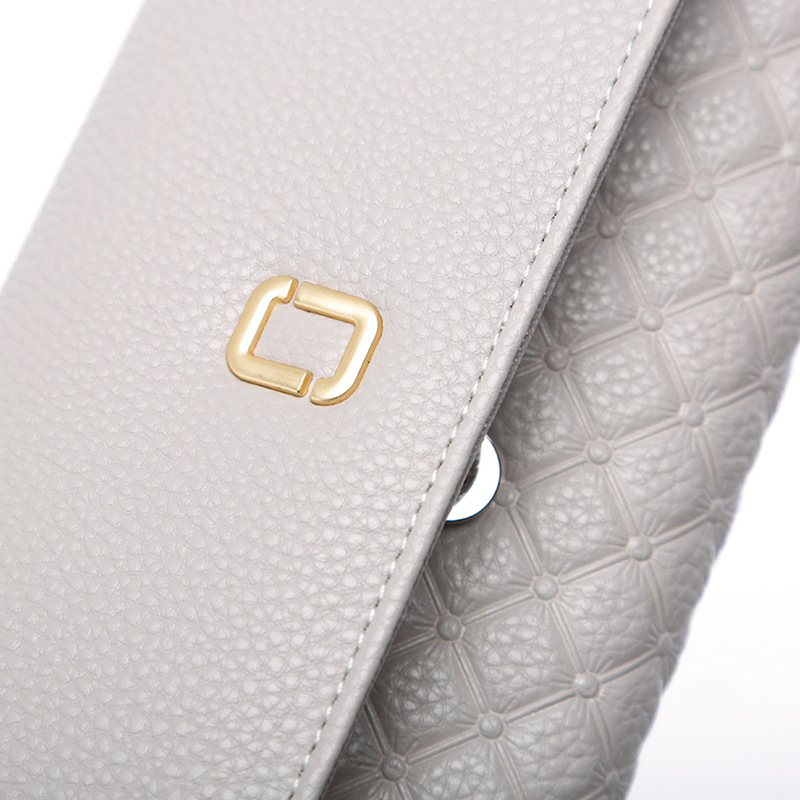 Female Clutch Card Holder Coin Purse Womens Wallets Money Clip Wallet Grid Pattern Retor Women Wallet Embossed Women Purses QL
